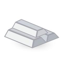 Silver ingots vector