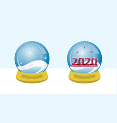 snow globe 2020 vector image