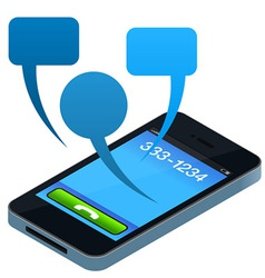 social mobile phone vector image