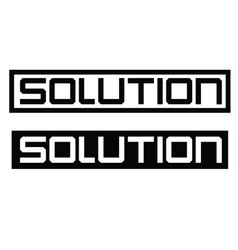 Solution label on white vector