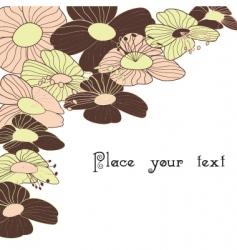 spring summer floral background vector image