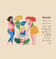 Three gossip girls urban scene vector