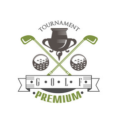 tournament golf premium logo elegant vintage vector image