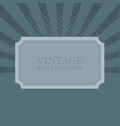 vintage retro background with sample text vector image