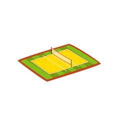 Volleyball stadium sports ground vector