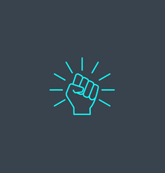 Will concept blue line icon simple thin element vector