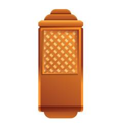 Wood elevator cabine icon cartoon style vector