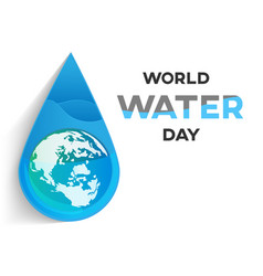 world water day background vector image vector image