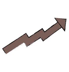 arrow of growth icon vector image