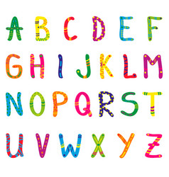cute cartoon alphabet for children vector image