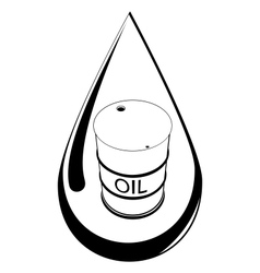 Drop and barrel with oil vector image