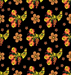 Khokhloma seamless pattern vector image vector image