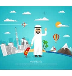 Poster Of Arab Travel vector image vector image