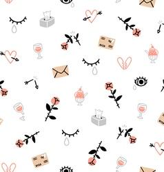 Sad valentines day pattern vector image