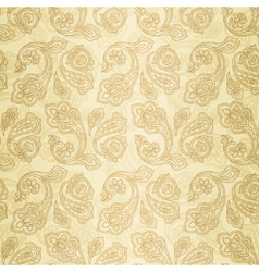 Turkish cucumber seamless pattern gold style vector image vector image