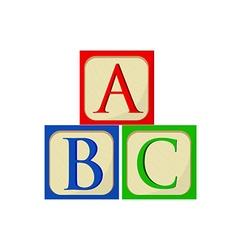 ABC blocks vector image