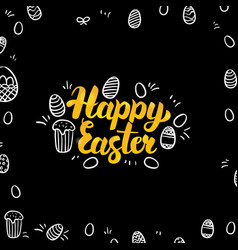 Easter gold and black design vector