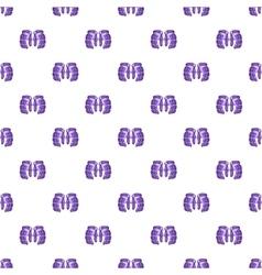 Hockey gloves pattern cartoon style vector image vector image