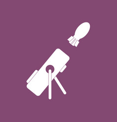 Icon military mortar and shell vector