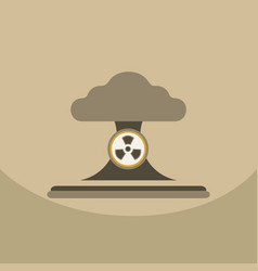 nuclear bomb explosion in eco vector image