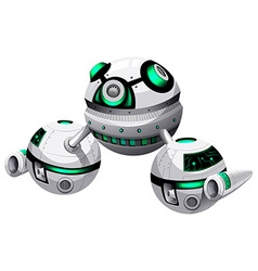 Round spaceship on white background vector image vector image