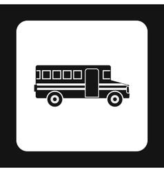 School bus icon simple style vector image vector image