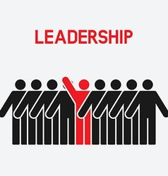 Leadership and teamwork concept vector image