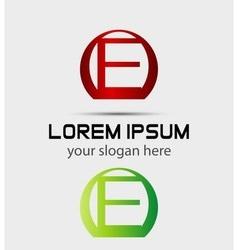 Letter E logo Creative concept icon vector image