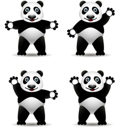 panda cartoon collection vector image vector image