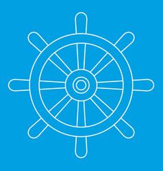 wooden ship wheel icon outline vector image vector image