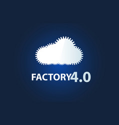 a cloud of gears vector image