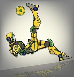 Brazilian Football Robot vector image