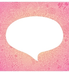 bubble speech on doodle hipster seamless pattern vector image vector image