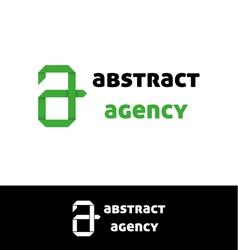 Green a letter logo vector image vector image