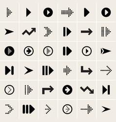 ser of arrow icons vector image