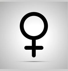 women gender simple black venus icon vector image vector image