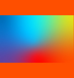 abstract blue red and yellow blur color gradient vector image