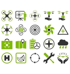 Air drone and quadcopter tool icons vector image