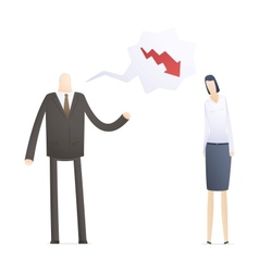angry boss with employee vector image