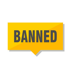 Banned price tag vector
