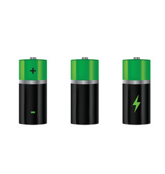 batteries set vector image