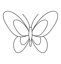 Beautiful butterfly icon outline style vector