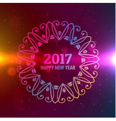Beautiful colorful background for 2017 new year vector