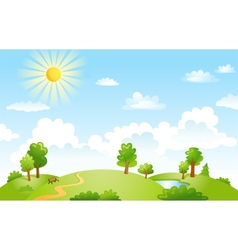 Beautiful landscape vector