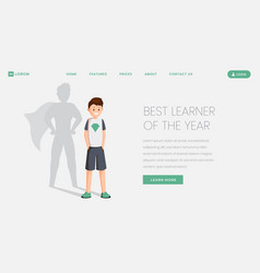 best learner landing page template best vector image