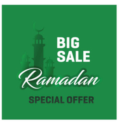 Big sale ramadan kareem special offer green vector