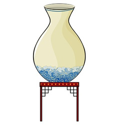 Big vase at the China store vector image