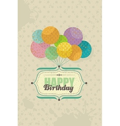 Birthday card with balloons vector image