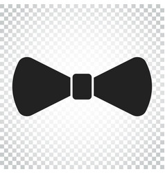 Bow tie flat icon necktie simple business vector