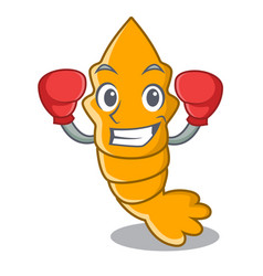 Boxing shrimps on a character cartoon style vector